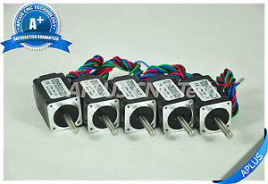 5 Pcs Nema 8 Micro Stepper Motor 2 55oz in 34mm 0 6a 1 8degree 4wires