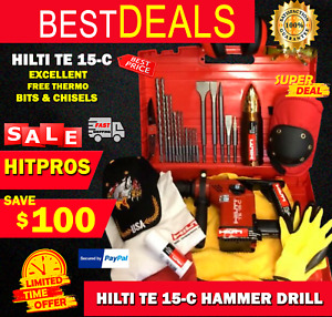 Hilti Te 15 c Drill Excellent Free Thermo Bits And Chisel Fast Ship