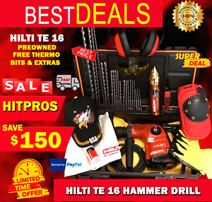 Hilti Te 16 Preowned Free Thermo Bits Extras Fast Ship