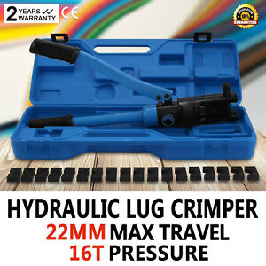 12 Ton Hydraulic Wire Terminal Crimper W dies Crimping Tools Cable Wire Popular