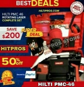 Hilti Laser Level Pmc 46 Brand New Free Laser Meter Extras Fast Ship