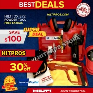 Hilti Dx E72 Powder Actuated Tool New Durable Free Angle Grinder Fast Ship
