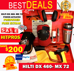 Hilti Dx 460 Mx 72 Power actuated Preowned Free Extras Fast Ship