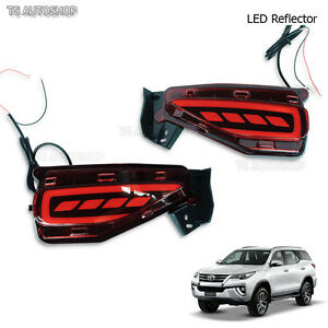 Led Red Reflector Brake Light Bumber For Toyota New Fortuner 4dr Suv 2016 2018