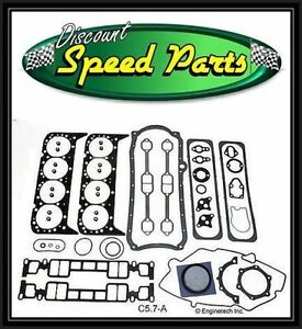Enginetech Full Engine Gasket Set For 1996 02 Chevrolet Gm V8 5 7l Vortec C5 7a