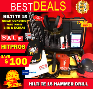 Hilti Te 15 Great Condition Free Tablet Bits Extras Fast Ship