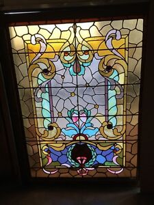 A M Six Antique Stainglass Landing Window Victorian