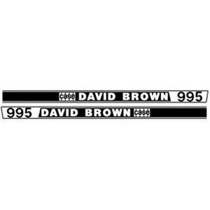 New 995 David Brown Ji Case Tractor Hood Decal Kit Quality Lasting Vinyl Decals