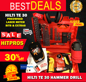 Hilti Te 30 Preowned Free Laser Meter Bits Extras Fast Ship