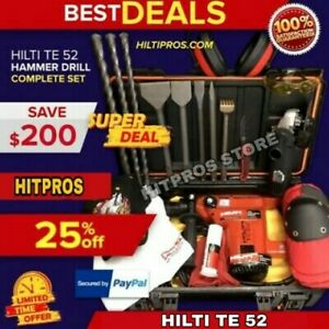 Hilti Te 52 Preowned Free Angle Grinder Bits And Chisels Fast Ship