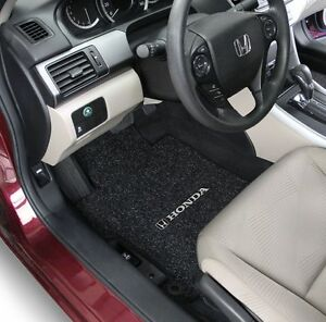 Honda Accord Coupe Carpet Floor Mats 2pc Fronts Fits 2008 2012 W logo 8 Colors