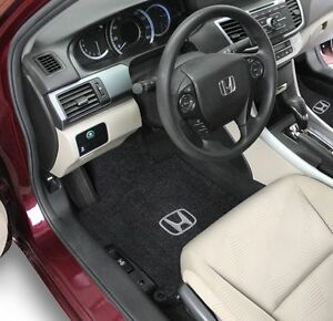 Honda Accord Coupe Carpet Floor Mats 2pc Fronts Fits 2013 2017 W Logo 8 Colors