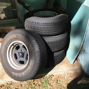 Granite Alloy Wheels And General Grabber Tires Qty 4