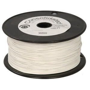 22 Awg Solid White Hook up Wire 1000 Ft Reel
