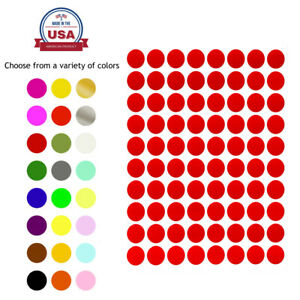 Royal Green Round Dot Stickers 1 2 Inch Small Circle Craft Labels 13mm