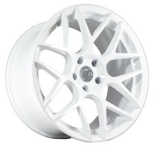 18x9 30 Aodhan Ls002 5x114 3 White Wheel Fits Mitsubishi Evolution Evo 8 9 X
