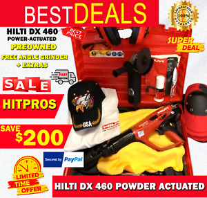 Hilti Dx 460 Powder Actuated Preowned Free Angle Grinder Extras Fast Ship