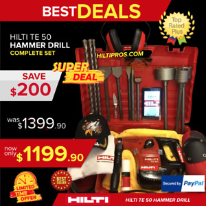 Hilti Te 50 Preowned Free Tablet Core Bits Chisel Fast Ship