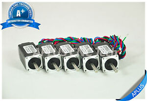 5 Pcs Nema 8 Micro Stepper Motor 3 40oz in 40mm 0 6a 1 8degree 4wires