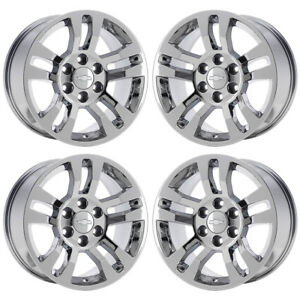 18 Chevrolet Silverado 1500 Lt Truck Pvd Chrome Wheels Rims Factory Oem 5646