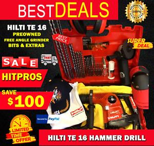 Hilti Te 16 Preowned Free Angle Grinder Bits Extras Fast Ship