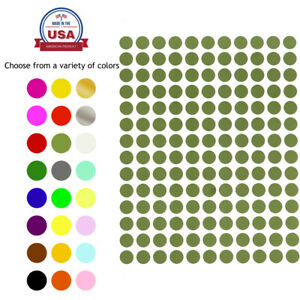 Royal Green Colors Circles Stickers 3 8 Inch Round Labels Small Dots 700 Pack