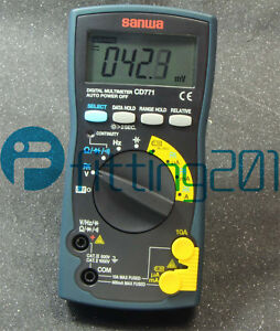 New Sanwa Cd771 Digital Multimeters Standard Type Backlight Cont Buzzer With Led