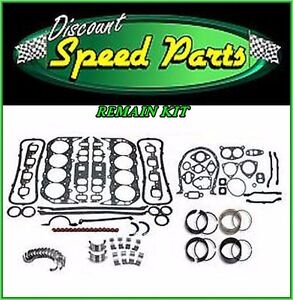Engine Remain Rebuild Kit For 69 85 Chevy Gm Van Light Truck 350 5 7l V8 16v Sbc