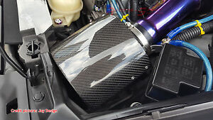 Rare Universal Real Carbon Fiber Air Intake Filter Breather Cover 350z Rx 7 Jdm