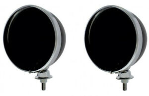 Pair Black Dietz 7 Headlight Buckets Assembly Wired For Hot Rods