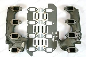 New 1958 68 Lincoln Exhaust Manifold Right Left 430 462 410 W 36 Piece Mount Kit