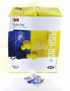 3m 318 1005 Ear Plugs Push In Corded Indiv Wrapped Pairs Reusable Box Of 500 1ad
