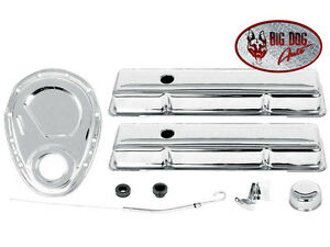 Camaro Small Block 283 305 327 350 Chrome Valve Cover And Engine Dress Up Kit