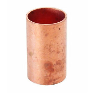 1 1 2 Coupling No Stop C X C Sweat Ends Copper Pipe Fitting