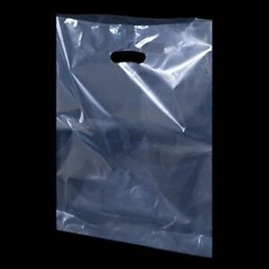 Clear Plastic Handle Polythene Shopping Carrier Bags Retail Trade Show All Sizes