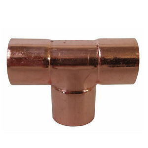 1 Tee bag Of 5 Copper Pipe Fitting