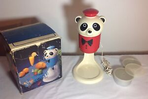 Electric Icepet Bear Shaved Ice Snow Cone Machine Vintage Made In Japan 60 s