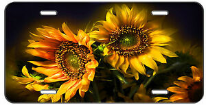 Custom License Plate Sun Flowers Auto Tag