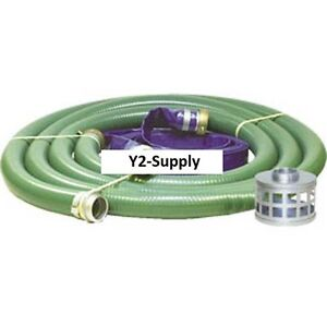 New Apache 2 Trash Pump Hose Kits W Aluminum Couplings And Fitting