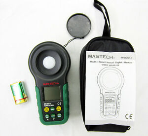 New Mastech Ms6612 Digital Lux Meter Light Meter Multi functional 200 000lux