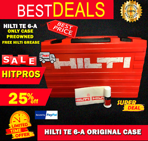 Hilti Te 6 a only Case Original Preowned free Hilti Grease Fast Ship