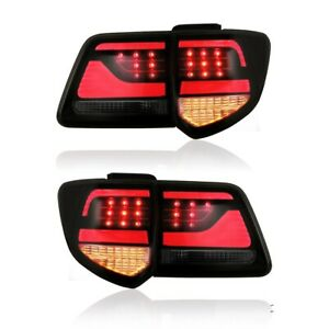 Smoked Black Full Led Tail Lights For Toyota 2012 2015 Fortuner Rear Lights
