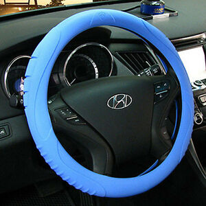 Ionized Masada Silicone Car Steering Wheel Cover blue fits To All Cars