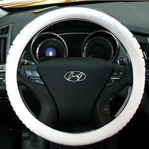 Ionized Masada Silicone Car Steering Wheel Cover white fits To All Cars