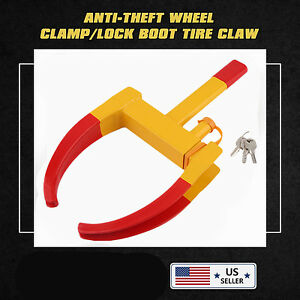 Wheel Lock Clamp Boot Tire Claw Suv Rv Trailer Auto Car Truck Anti Theft Towing