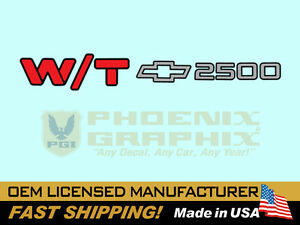 1994 2000 Chevrolet W t 2500 Work Truck End Tailgate Decal