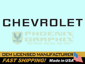 1982 1983 1984 1985 1986 1987 1988 1989 1990 Chevrolet S 10 Truck Tailgate Decal