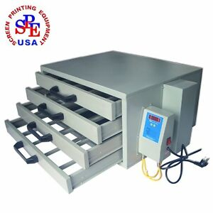 110v Screen Drying Cabinet A 4 Layers Screen Printing Equipment Temperature