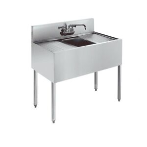 Stainless 1 Compartment Bar Sink With Drainboard