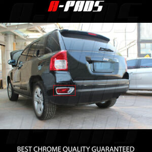 For Jeep Compass 2011 2012 2013 2014 2015 2016 Chrome Rear Fog Lamp Covers Trim